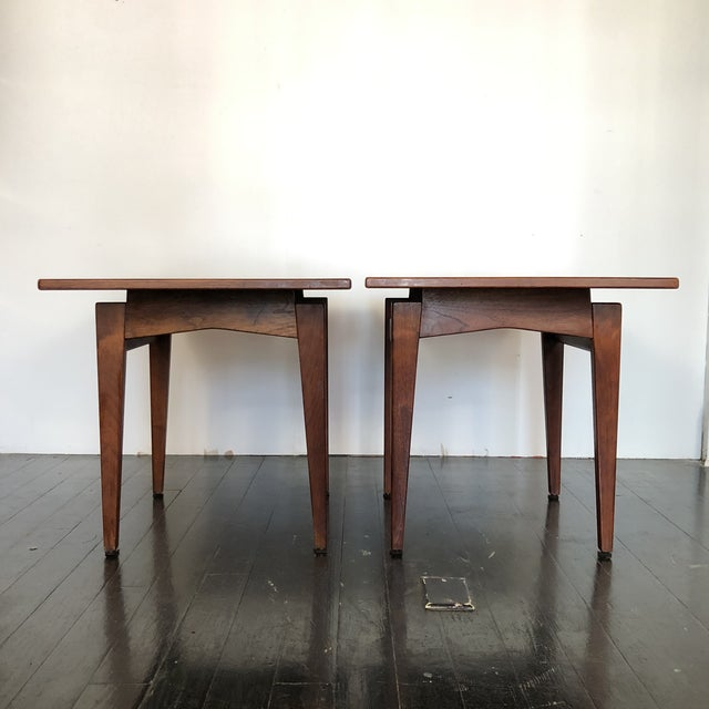 Jens Risom Walnut Side Tables - a Pair For Sale - Image 9 of 13