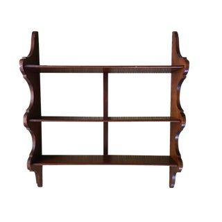 Antique English Mahogany 3-Tier Wall Shelf For Sale