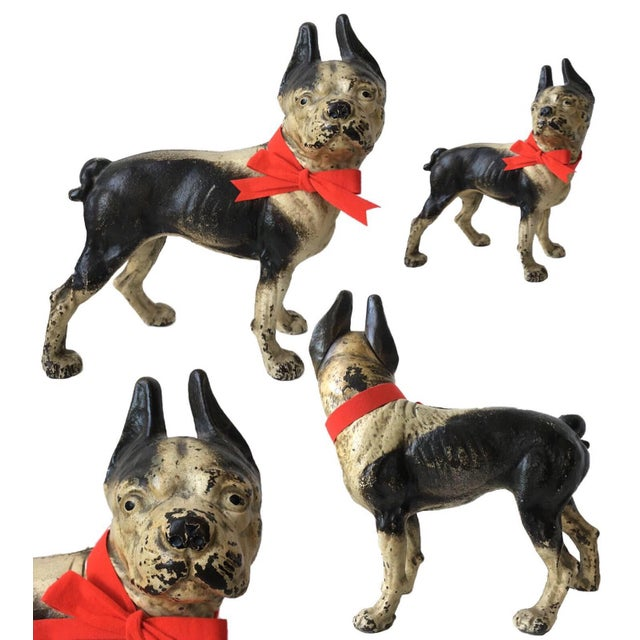 This beautiful cast iron Hubley Boston terrier is oozing with charm and is sure to put a smile on any passerby's face! He...