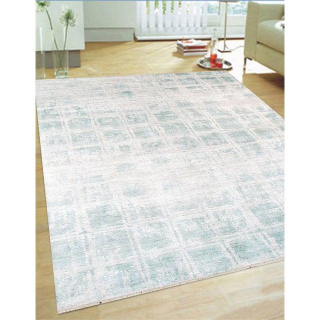 Pasargad's Aqua Silk Collection Rug - 9' x 12' - Image 2 of 6
