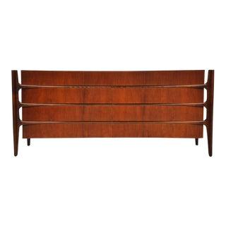 William Hinn Walnut Eight-Drawer Dresser For Sale
