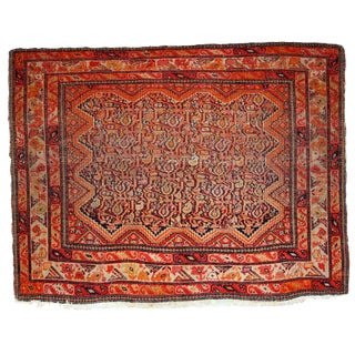 1880s, Handmade Antique Collectible Persian Mishan Malayer Rug 2.3' X 3.7' For Sale