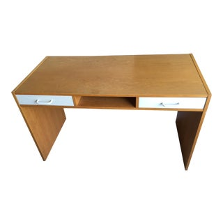 Danish Modern Mid-Century Teak & White Two-Drawer Desk For Sale