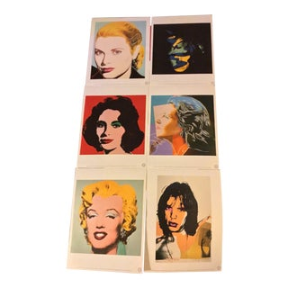 "Andy Warhol Foundation X Te Neues Publishing Company ""Familiar Faces"" Offset Lithographs - Set of 6 For Sale"