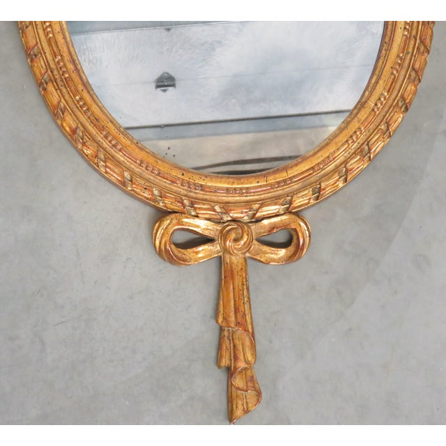 French Style Oval Gilt Mirror - Image 2 of 6
