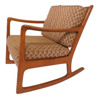 Danish Modern Rocking Chair by Ole Wanscher, For Sale