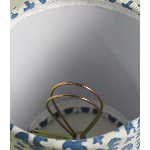Fortuny Fortuny Blue and White Chandelier Shade For Sale - Image 4 of 5