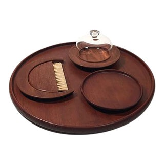 Set of Teak Table Accessories by Kay Bojesen For Sale