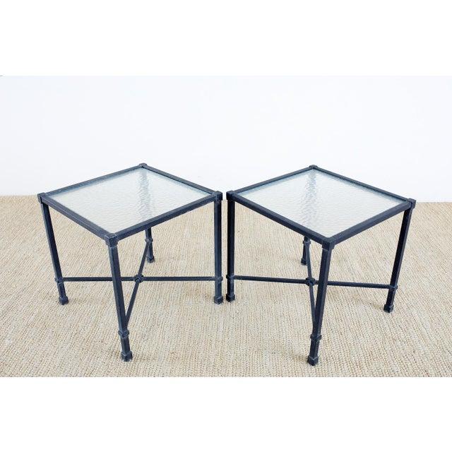 Neoclassical Brown Jordan Venetian Aluminum Cube Drinks Tables For Sale - Image 3 of 10