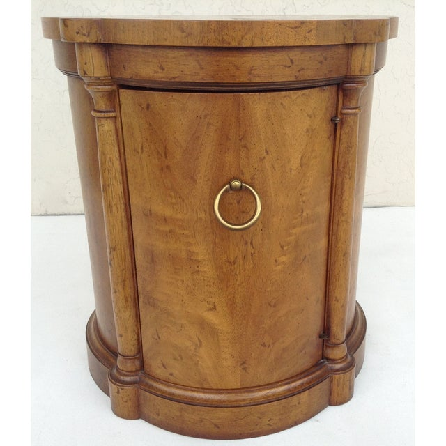 Vintage Regency Style Columned Round End Table - Image 10 of 10