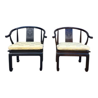 Pair of Ming Style Chinoiserie Chairs by Century Furniture