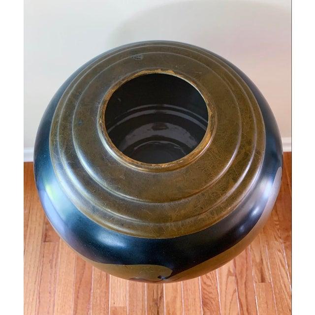 Vintage Panther Motif Pottery Vase For Sale - Image 4 of 9