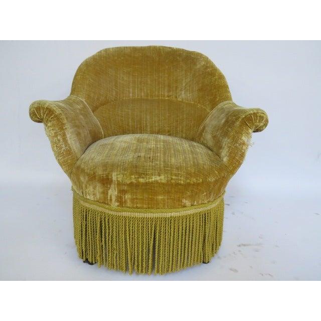 1940's light Gold Slipper Chair - Image 2 of 6