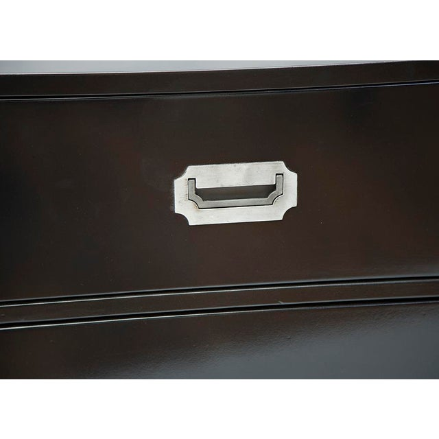 Black Lacquered Campaign Chest - Image 4 of 8