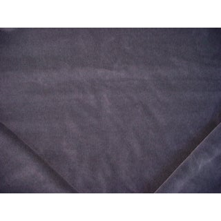Traditional Ralph Lauren Flannel Velvet Charcoal Gray Upholstery Fabric - 2-1/2y For Sale