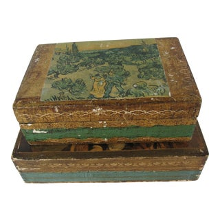 Florentine Florentina Boxes-2 Pieces For Sale