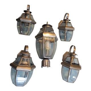 1990s Vintage Outdoor Lights - Set of 5 For Sale