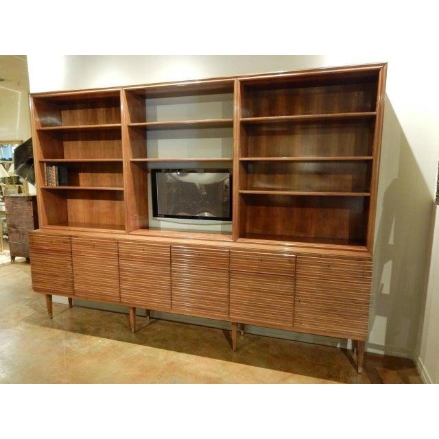 Paolo Buffa Italian Mid-Century Modern Walnut Bookcase Cabinet by Paolo Buffa For Sale - Image 4 of 11