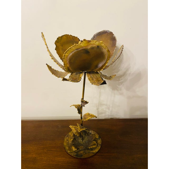 Vintage Mid-Century Friedle Style Torch Cut Floral Sculpture For Sale - Image 13 of 13