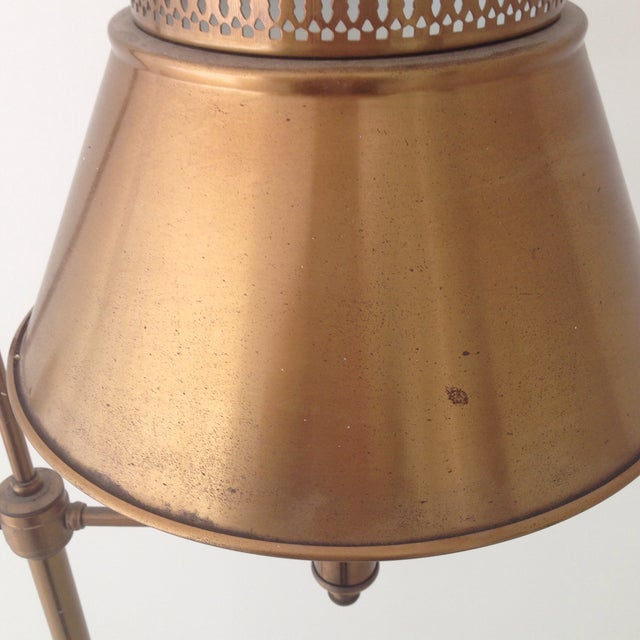 Brass Colored Tole Floor Lamp - Image 6 of 11