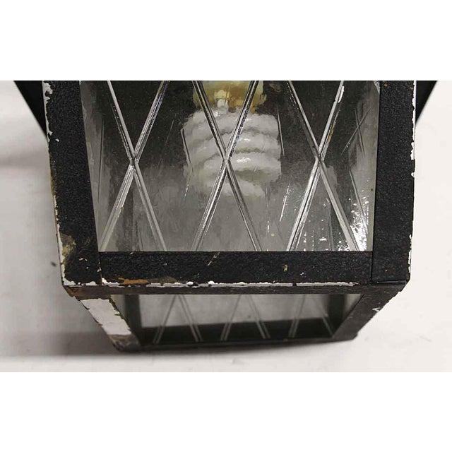 Arts & Crafts Black Metal & Glass Exterior Ceiling Lantern For Sale - Image 6 of 9
