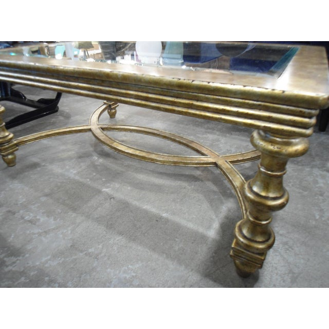 La Barge Gold Wood Framed Glass Top Coffee Table - Image 2 of 7