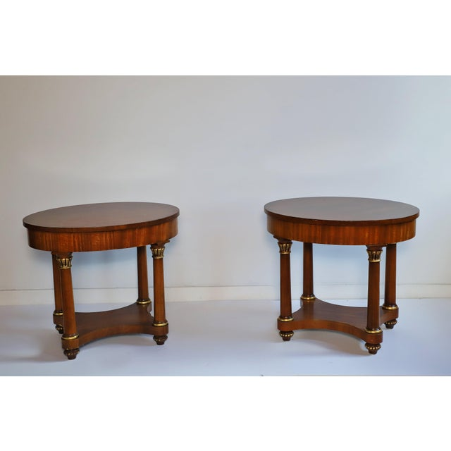 Chestnut Mid 20th Century Henredon Empire End Tables From Waldorf Astoria - Set of 2 For Sale - Image 8 of 8