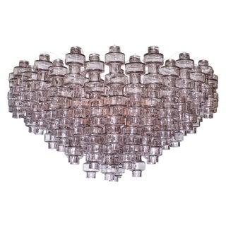 Gray Manubri Murano Glass Chandelier For Sale
