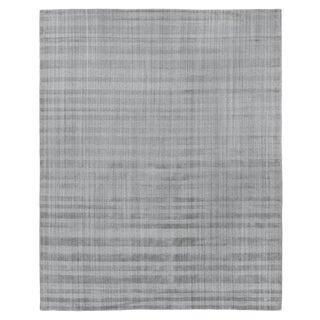 "Iscar Hand loom Wool/Viscose Gray Rug-6'x9"" For Sale"