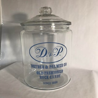 Anchor Hocking Dryden & Palmer Co. Rock Candy Glass Jar