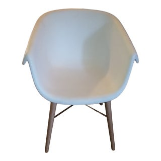 Collier Chair by Casprini with Wood & Chrome Base For Sale
