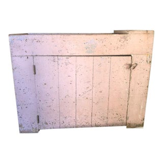 19th Century Country Mauve Dry Sink/Cupboard For Sale
