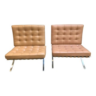 Knoll Barcelona Chairs - a Pair For Sale