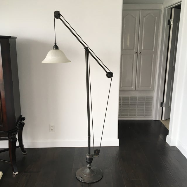 Pottery Barn Pulley Lamp