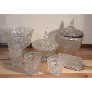 Vintage Anchor Hocking Wexford Design Glassware - Set of 7 Preview