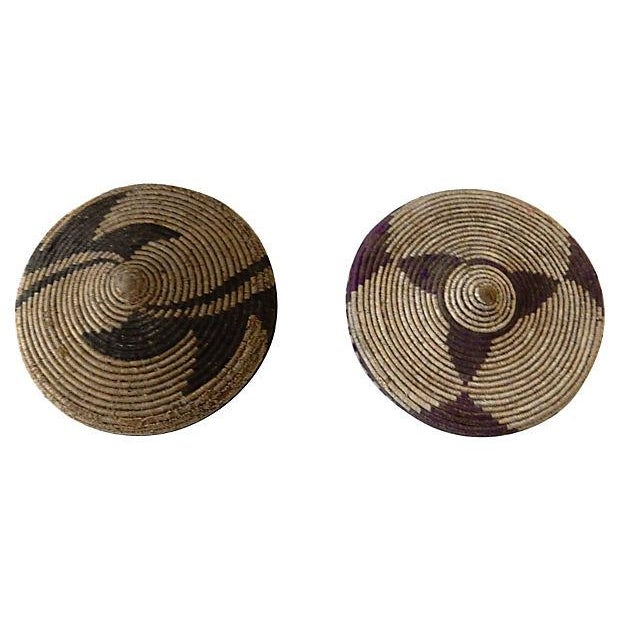 Hima Milk Jugs w/ Woven Lids, S/2 For Sale In New York - Image 6 of 7