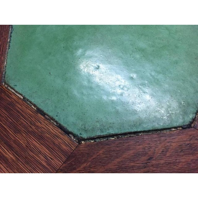 Rare Gustav Stickley Grueby Tile-Top Table For Sale In New York - Image 6 of 8