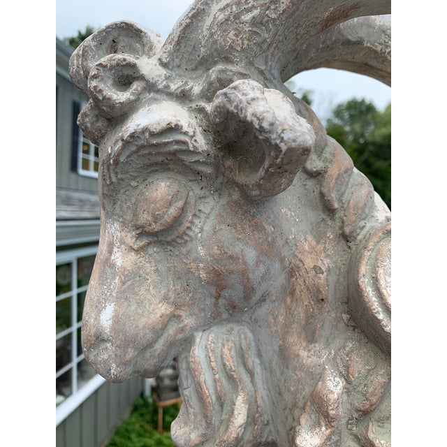 Terracotta Sculpture of Billy Goat Ram For Sale - Image 9 of 13