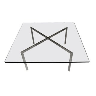 Original Signed Knoll Mies Van De Rohe Barcelona Table For Sale