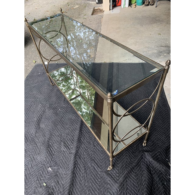 Contemporary Drexel Heritage Glass Console For Sale - Image 3 of 8