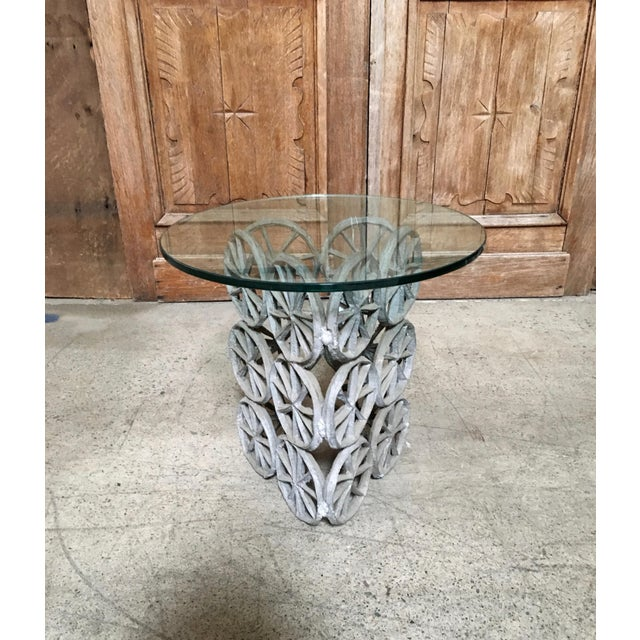 Black Donald Drumm Glass Side Table For Sale - Image 8 of 8