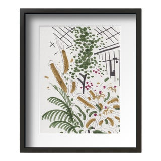 """Botanic Garden"" Contemporary Still Life Drawing by Tang Wen Ching, Framed For Sale"