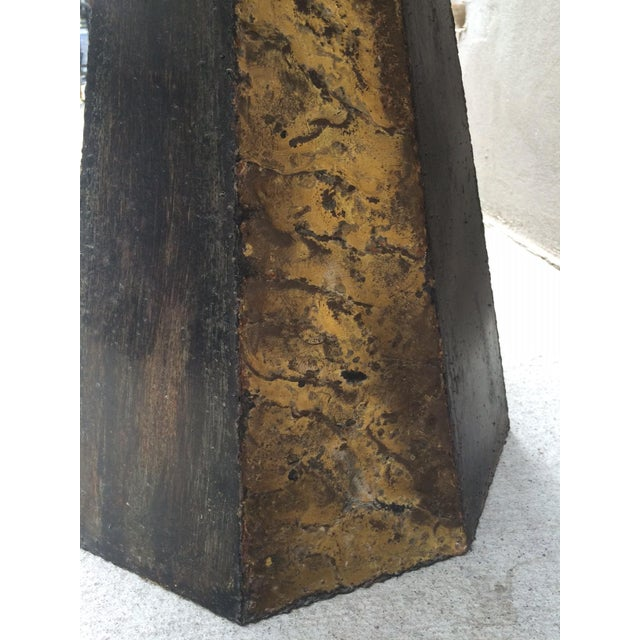 Paul Evans Round Slate Top Table For Sale In New York - Image 6 of 7