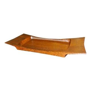 Jens Quistgaard for Dansk Low Profile Wenge Wood Serving or Dresser Tray For Sale