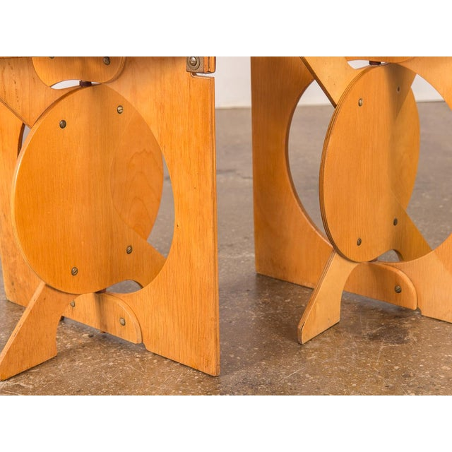 Wood 1960s Barry Simpson Rooster Folding Stools - a Pair For Sale - Image 7 of 12