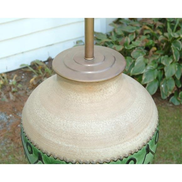 Traditional 1930s Vintage Pottery Lamp For Sale - Image 3 of 6