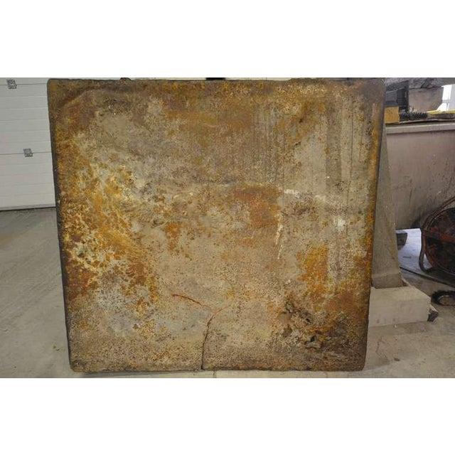 Black 18th C. French Large Square Fireback For Sale - Image 8 of 9