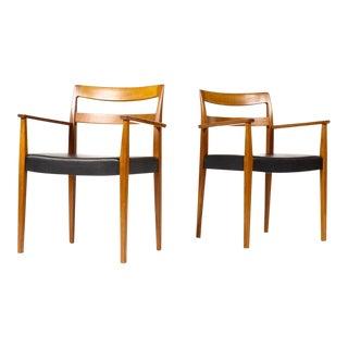 1960s Danish Modern Nils Jonsson for Hugo Troeds Teak Garmi Armchairs - a Pair For Sale