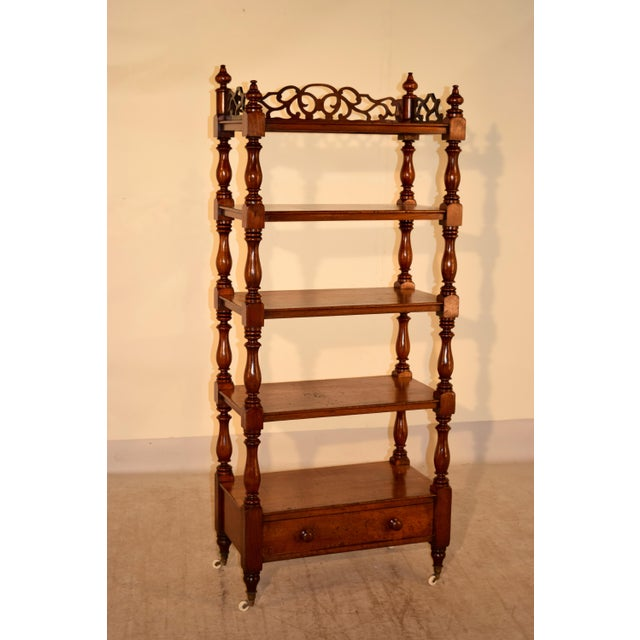 Brown 19th C English Mahogany Etagere For Sale - Image 8 of 8