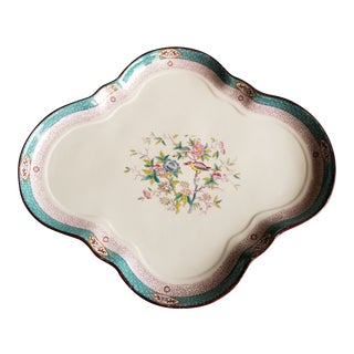 Antique Porcelain Serving Tray For Sale